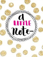 Rachel Ellen - A Little Note  Cards -5pk